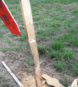 Steel Target NOT Parallel To Wood Post